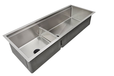 "50"" Undermount Double Bowl Ledge Sink"