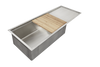 "30"" drainboard sink with ledge cutting board"