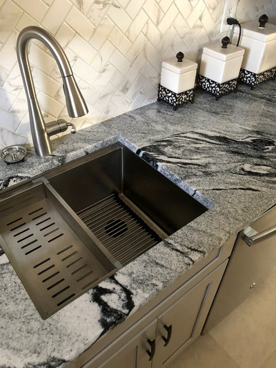 stainless steel ledge undermount sink