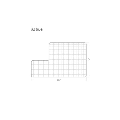"5LS28L stainless steel grid for 28"" ledge sink dimensions"