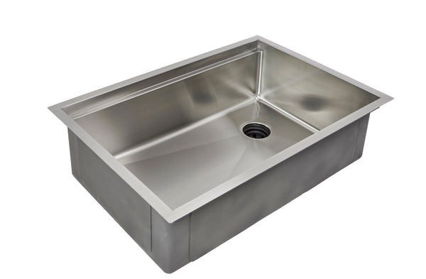"28"" stainless steel ledge undermount sink"
