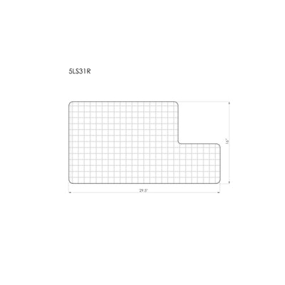"GRID - 31"" stainless steel sink grid - right drain (GR-5LS31R)"
