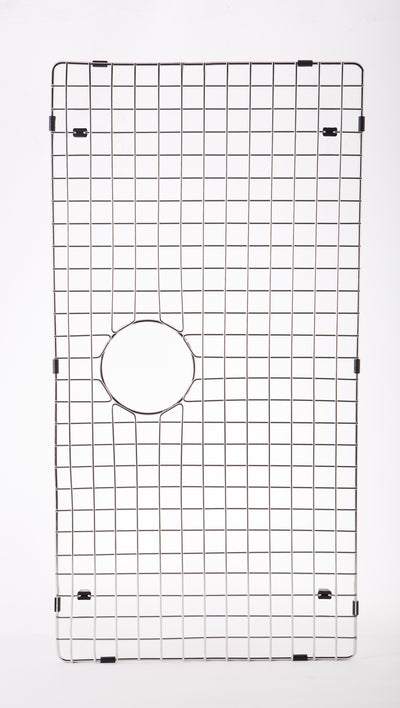 "33"" stainless steel sink grid - center drain (GR-5LS33)"