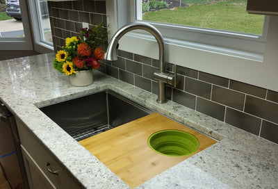 "Create Good Sinks best value large single bowl sink for 36"" cabinet"