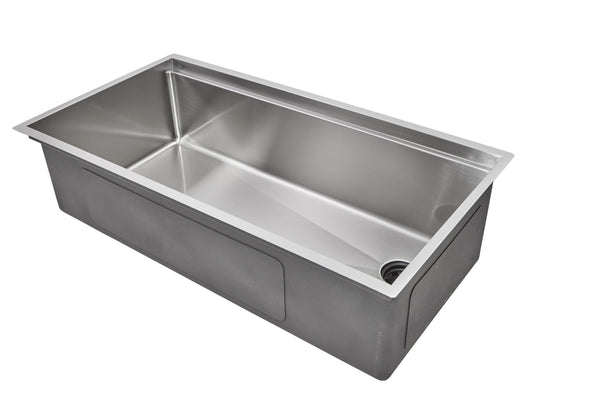"37"" Ledge Stainless Steel Undermount Sink"