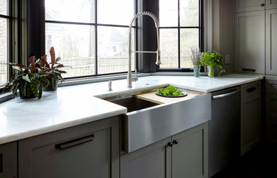 Create Good Sinks large stainless steel single bowl farmhouse style sink