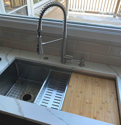 "40"" Ledge Sink - Single Bowl - Reversible  (5LS40c)"