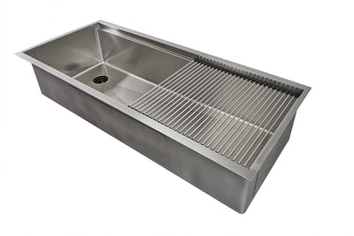 "46"" Ledge Sink - Single Bowl - Offset Left Drain (5LS46L)"