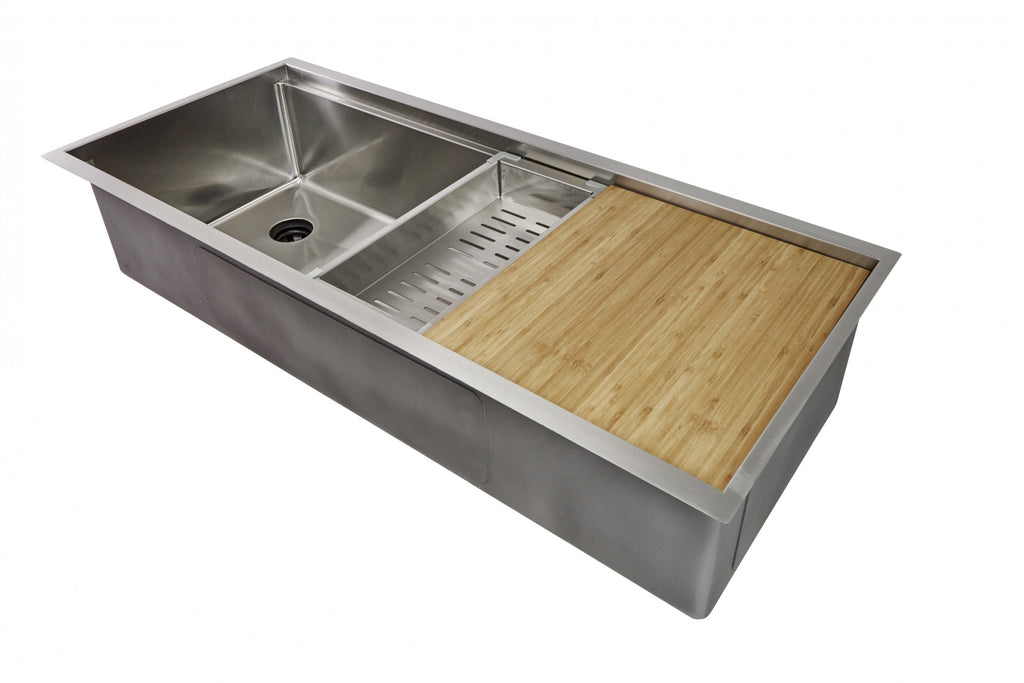 "46"" ledge sink - single bowl - left drain (5LS46L)"