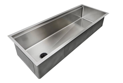 "50"" stainless steel undermount ledge sink"