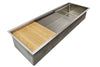 "56"" five foot Single Bowl Undermount workstation Sink with cutting board"