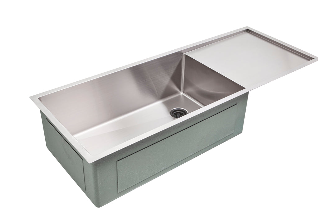 ordinary Single Bowl Stainless Steel Sink With Drainboard Part - 19: Create Good Sinks
