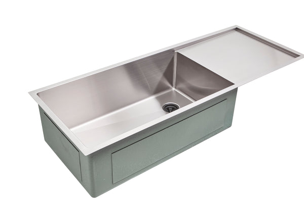 "50"" Drainboard Undermount Stainless Steel Sink"