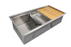 "39"" Ledge Undermount Double Bowl Stainless Steel Sink"