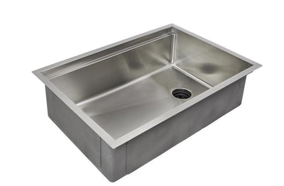 "33"" reversible ledge sink with offset drain"