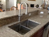 32 Inch Non Ledge Under-mount Sink With High Divide