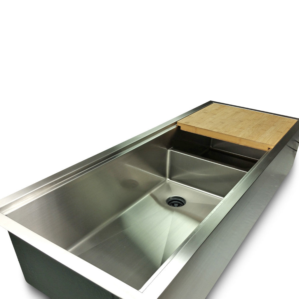 "1/2"" Radius 50"" Ledge Apron Front Double Bowl Sink -  (5LAD50)"