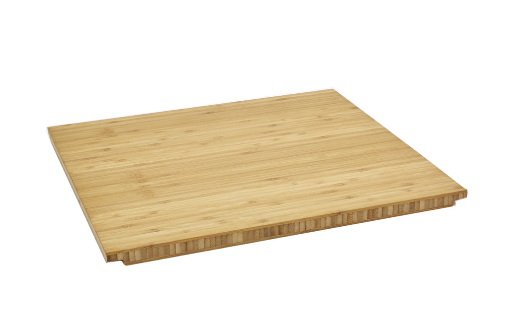 "15"" Bamboo cutting board accessory for a ledge kitchen sink"