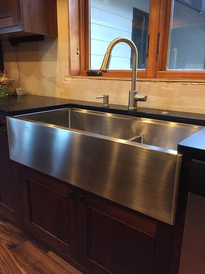 long apron farmhouse workstation ledge kitchen sink with perfect seamless drain