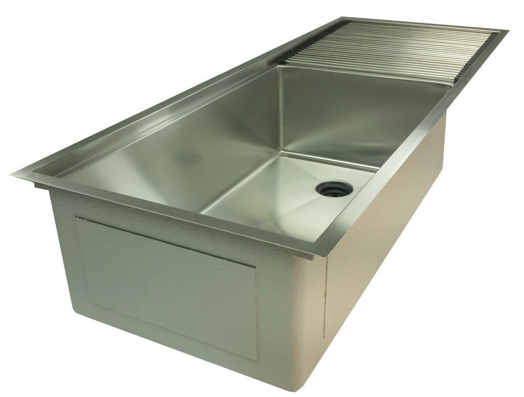 "50"" ledge sink - drainboard - single bowl - reversible  - (5LPS30c) // ETA September"