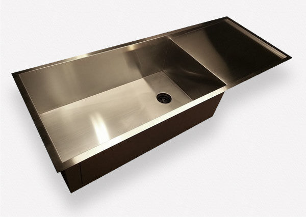 "Zero Radius 50"" Drainboard Sink Single Bowl  - Reversible  (0PS30c)"