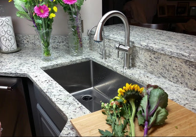 Single Bowl Kitchen Sink with Offset Drain Left