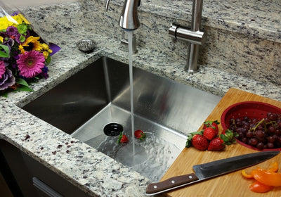 "33"" Undermount Kitchen Sink with Offset Drain"