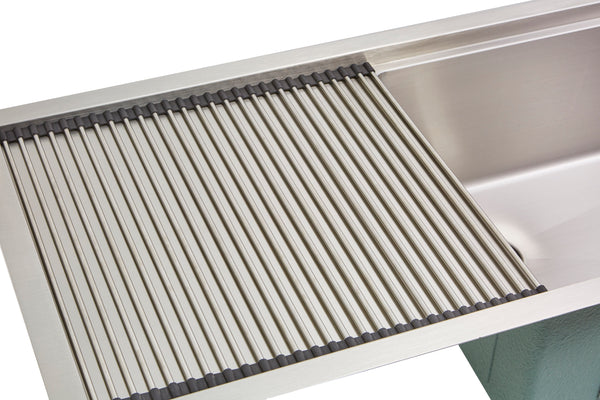 "Drainboard Accessories - 18"" Stainless Steel Roll Mat (RMP16)"