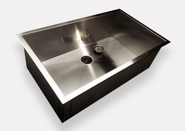 "Zero Radius 32"" Single Bowl Sink    (0S32)"
