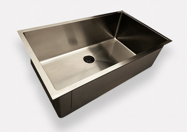 "out of stock // 32""  under mount sink - single bowl - center drain (5S32)"