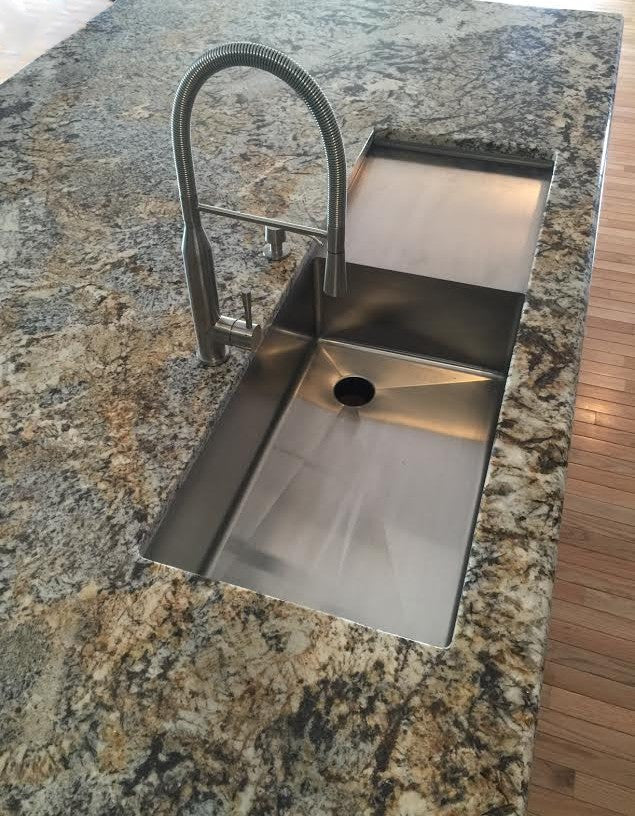 "50"" drainboard sink - single bowl - drainboard right (5PS30R)"