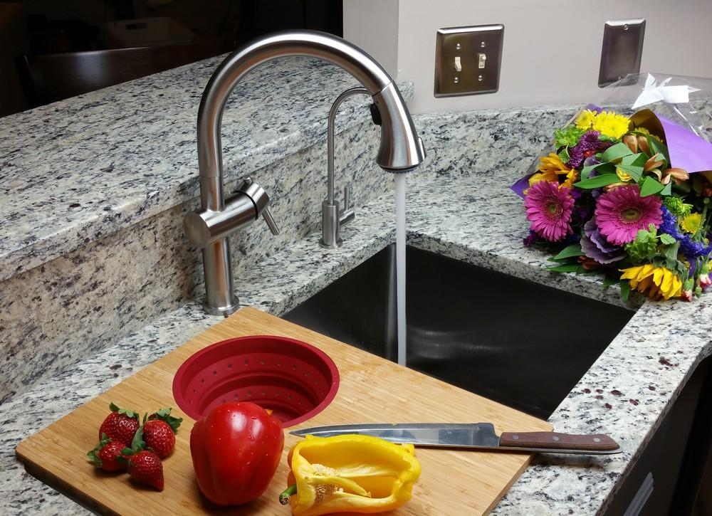 Webster Kitchen Faucet - Solid 304 stainless steel with a brushed finish