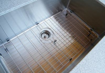 "GRID - 32"" stainless steel sink grid - center drain (GR-5S32)"