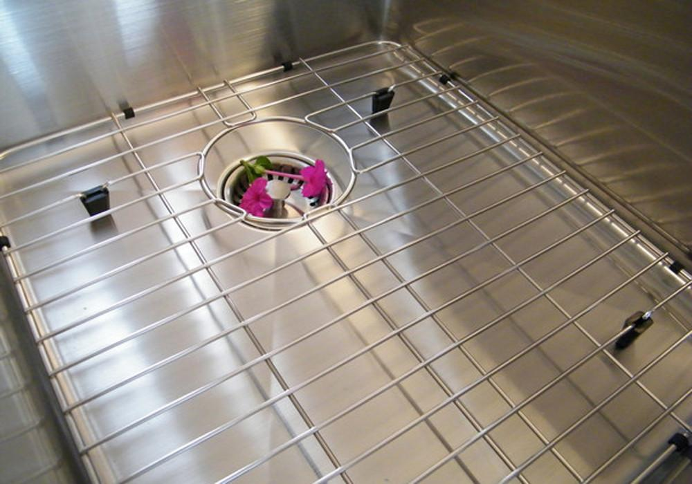 "GRID - 51"" drainboard double bowl   - Stainless steel sink grid - (GR-5PD15.15.18)  // out of stock //"