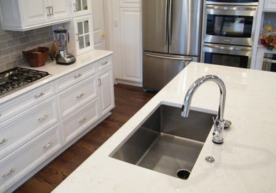 "32"" undermount stainless steel kitchen sink - single bowl"
