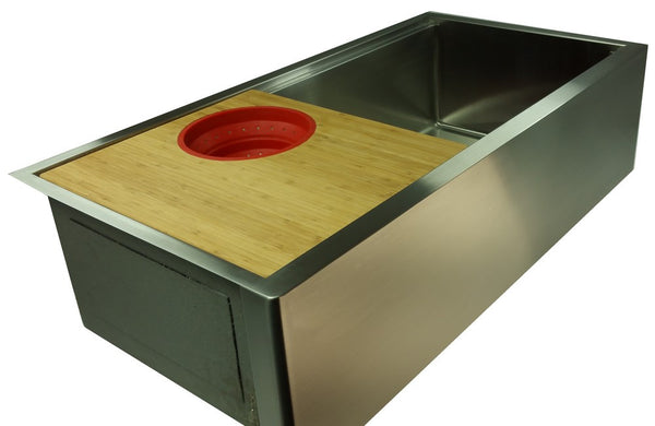 "1/2"" Radius 38"" Ledge Apron Front  Single Bowl Sink  (5LAS38c) Out of stock - call for availablity"