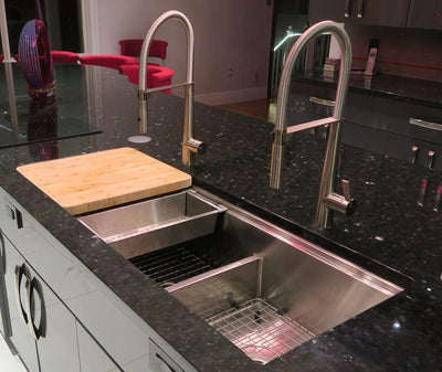 "50"" Ledge Sink - Double Bowl - Reversible (5LD50c)"