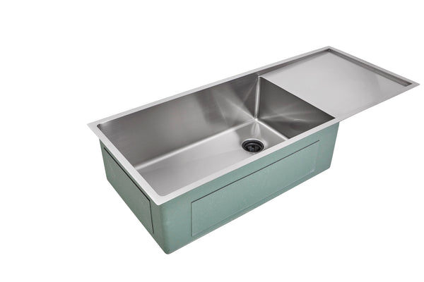 "45"" Drainboard  Undermount Sink  Single Bowl"