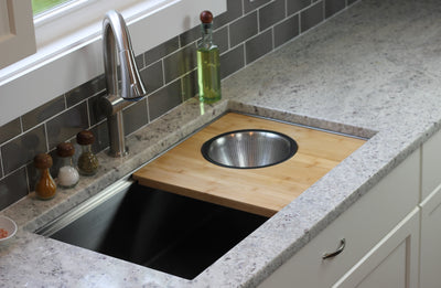 Create Good Sinks large 16 gauge undermount stainless steel kitchen sink with ledge