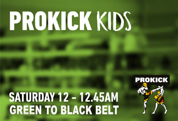 ProKick Kids from Green Belts and above will be back at the ProKIck Gym in Wilgar St @12pm the 29th May.