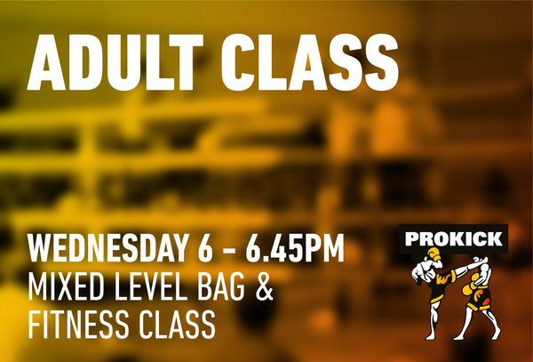 Mixed Level bag/fitness Class Wednesday 14th October @ 6pm