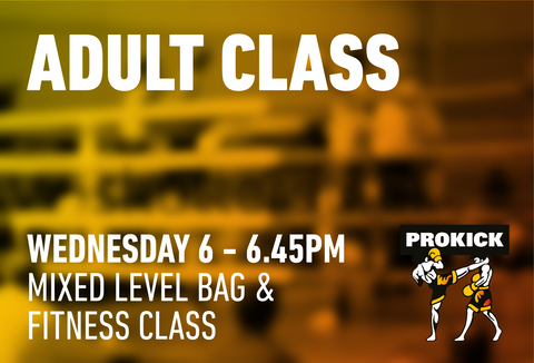 Mixed Level bag/fitness Class Wednesday  15th July @ 6.00pm
