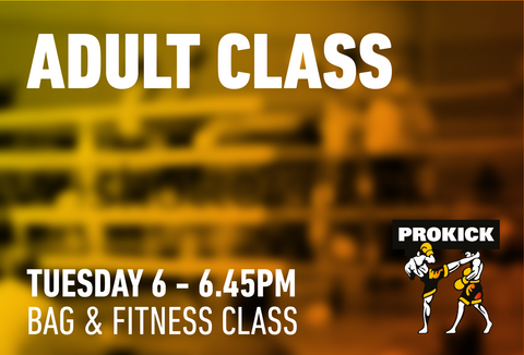 Mixed Level bag work out class Tuesday 14th July @ 6pm