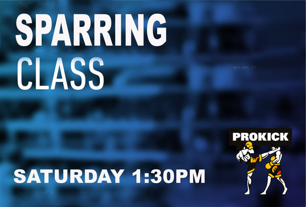 Sparring Class All Levels every Saturday, the class hits off on 29th May @ 1:30pm.