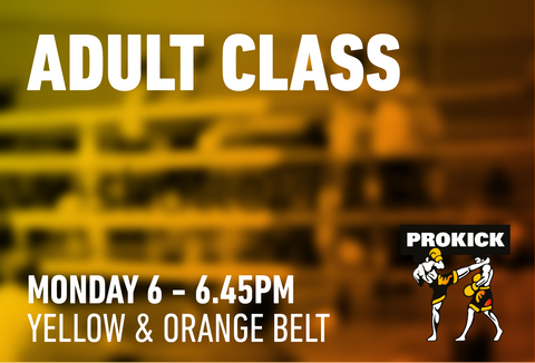 Adult Yellow and Orange - Monday 21st September @ 6pm