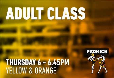 Adult Yellow and Orange - Thursday 15th October @ 6pm