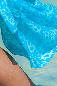 Coral Printed Cotton Sarong Pareo KVCORL
