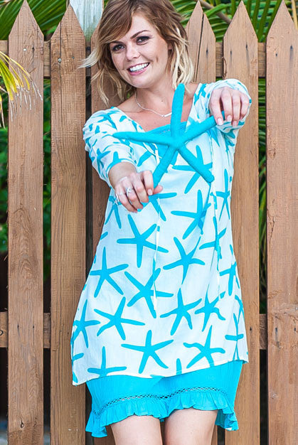 49d68d52f11 Starfish-cotton-beach-tunic-coverup – West Indies Wear