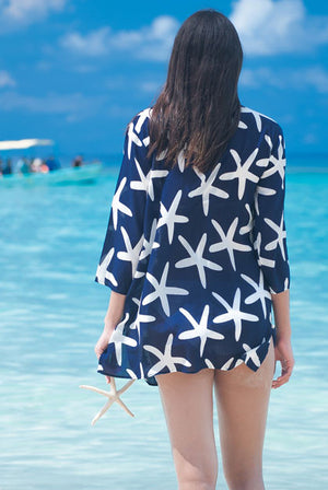Starfish Cotton Beach Tunic Cover up KV295
