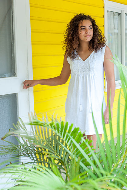 Caribbean Cotton Beach Dress KV437